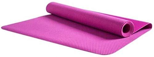 Esterilla de yoga de sección delgada profesional de goma natural toallas femeninas plegables antideslizantes manta de yoga portátil entrenamiento de yoga (color rosa