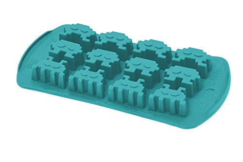 Happy flex hf05623 ghiaccinvaders Bac à glaçons, 25.1 x 11 x 0,2 cm, Blue