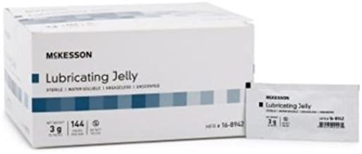 Lubricating Jelly, 3 Gram, Individual Packet, Sterile, McKesson - Pack of 144