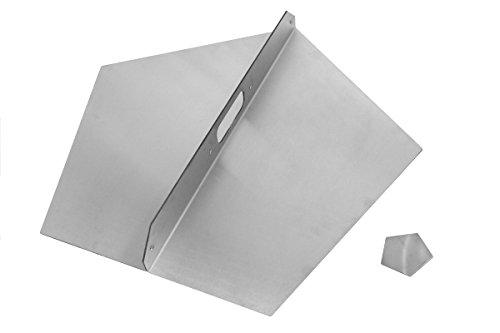 Dekselset voor premium vuurschaal 80 cm in turbinedesign • vuurkorf voor de tuin • open haard als grill • demonteerbaar (2 deksels (klein + groot))