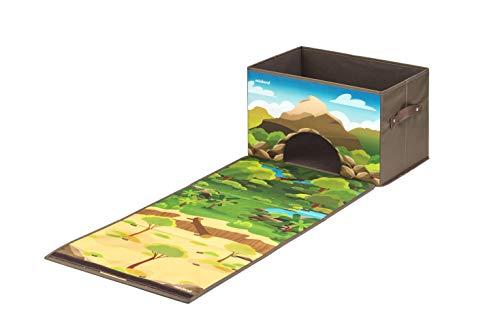 Miniland- Forest & Jungle Box: Baúl de almacenaje Convertible en Bosque y Selva (97098)