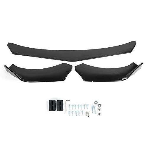 DWWSP 3 piezas universal parachoques delantero alerón divisor protector cuerpo borde ajustable ángulo 3 etapas