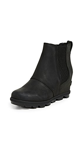 Sorel Women's Joan of Arctic Wedge II Chelsea Boots, Black, 7 Medium US