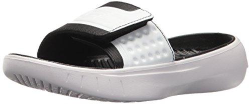 Under Armour Boy's Curry 4s Slide Sandal, Black (001)/White, 2