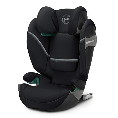 Cybex Gold Kinder-Autositz Solution S i-Fix, für Autos mit und ohne ISOFIX, Gruppe 2/3 (15-36 kg), ab ca. 3 bis ca. 12 Jahre, Deep Black