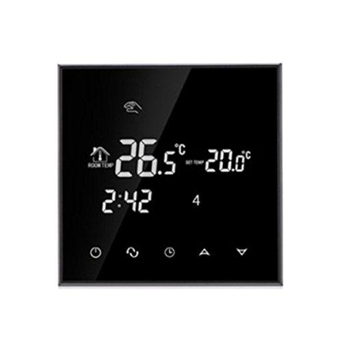D DOLITY Wifi LCD Touchscreen Programmierbar Thermostat Wandthermostat Fussbodenheizung Sprachsteuerbar, Heiz/Kühl Modus