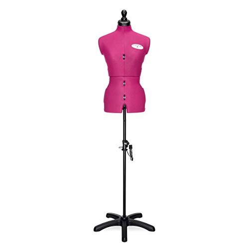 Deubl Schneiderpuppen Damen verstellbar Celine Multi (Gr.M/42-50) 8-teilig komplett einstellbar, 5-Bein Fuß, Schneiderbüste mit 12 Verstellrädchen, Rockabrunder, Rückenlängenverstellung