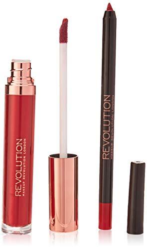 Makeup Revolution Vloeibare lippenstift, retro luxe kits metallic, regent
