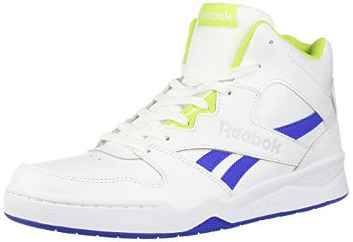 Reebok mens Royal Bb4500 Hi2 fashion sneakers, White/Crushed Cobalt/Neon Lime/Cold Grey, 8.5 US