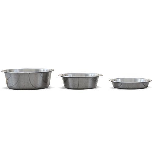PetFusion Premium 304 Food Grade Stainless Steel Dog & Cat Bowls. Cat Bowls Shallow & Wide for Relief of Whisker Fatigue