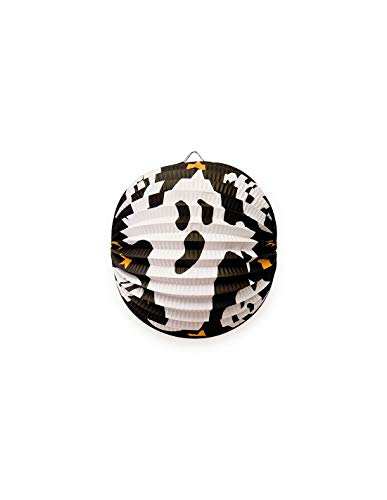 DISBACANAL Gespenster Laterne aus Krepp Papier für Halloween Feste