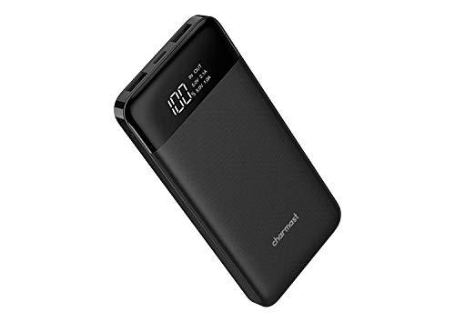 Powerbank 10400mAh, USB C Caricabatterie Portatile con LED Digitale Display Batteria Esterna Portatile con 2 ingressi e 3 uscite da 5V/3A per iPhone Samsung Galaxy Huawei Smartphone.(Nero)