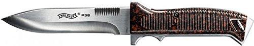 walther P38 Messer im Retrolook der legendären P38 Wehrmachtspistole inkl. Lederscheide