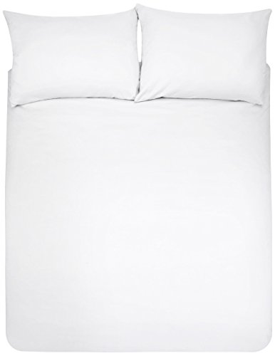Amazon Basics Duvet Set, Bianco Brillante, 230 x 220 cm