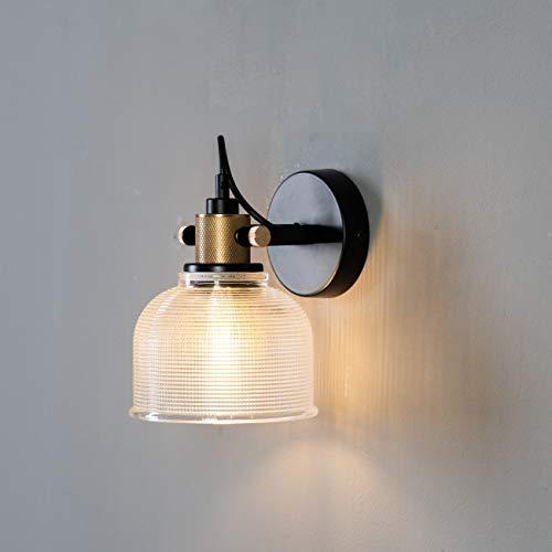 KOSILUM - Applique cloche verre texturée - Vela - Lumière Blanc Chaud Eclairage Salon Chambre Cuisine Couloir - 1 x 40 W - - E27 - IP20