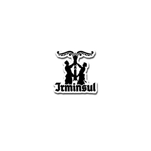 Copytec Aufkleber/Sticker - Irminsul Erminsul Germanen Wikinger Emblem 7x7cm #A4188