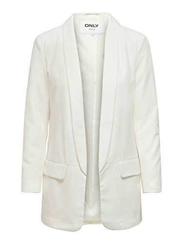 Only ONLCECILI Long Blazer CC TLR, Cloud Dancer, 36 para Mujer