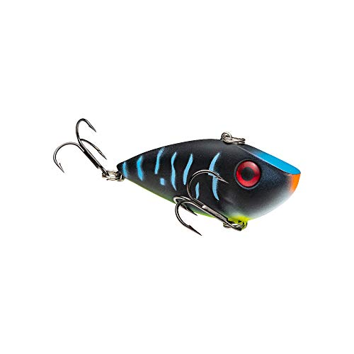 Strike King Lures, Red Eyed Shad 1/2 oz Hard Lipless Crankbait Lure, 3 1/4' Length. 8' Depth, Two Number 6 Treble Hooks, Wicked, Per 1