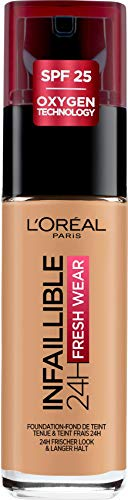 L'Oréal Paris Infaillible 24H Fresh Wear Make-up 260 Golden Sun, hohe Deckkraft, langanhaltend, wasserfest, atmungsaktiv, 30ml