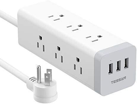 TESSAN Long Power Strip Surge Protector Flat Plug Desktop Charging Station with 9 AC Outlets product image