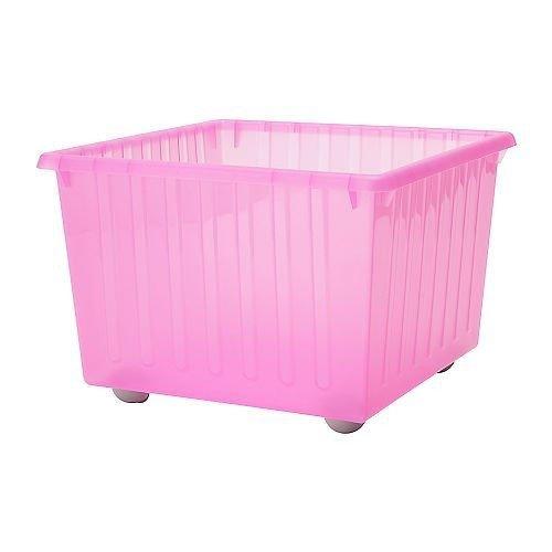 IKEA VESSLA con ruedas en caja de color rosa claro
