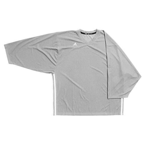 adidas AdiTeam Jersey - Men's Hockey L Mystic Grey/White