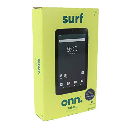 """ONN. Surf 7"""" Android Tablet 9.0 Pie 16GB 1.3GHz Quad-Core 2 Camera Bluetooth"""