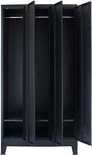 Armoire de rangement pour bureau ou chambre Armoire de bureau Armoire de bureau en acier avec 3 compartiments et 3 portes ...