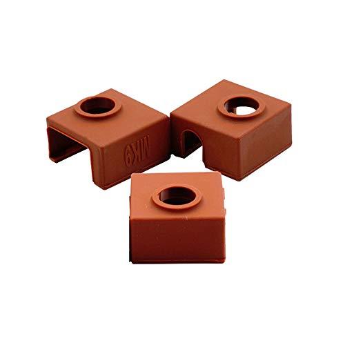 Gaetooely Heizelement Block des Silikon Drucker 3D Abdeckung Mk7 / Mk8 / Mk9 Hotend Für Creality Cr-10,10S,S4,S5,Ender 3, Anet A8