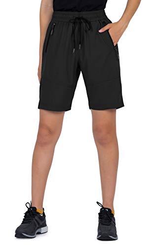 Cycorld MTB Hose Damen Fahrradhose, MTB Shorts Damen Mountainbike Hose, Atmungsaktiv, Schnelltrocknende (M, Neue Schwarz)
