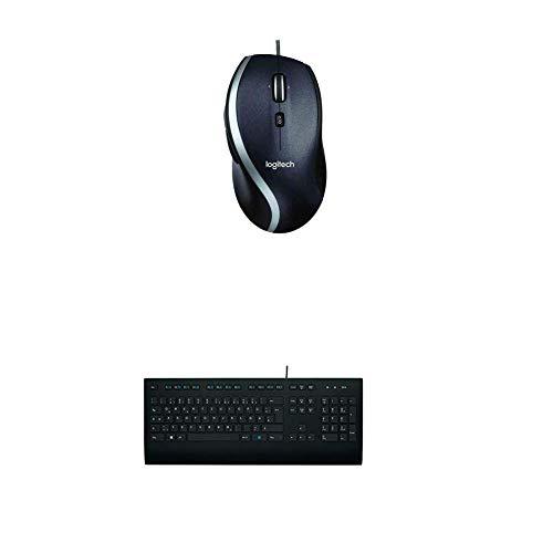 Logitech M500 kabelgebundene USB Corded Lasermaus + K280e Tastatur Kabelgebunden