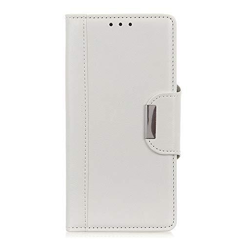ケース 対応機種「 Redmi Note 10 Pro 」 [KAIDON] [モデル番号: C3-004] 良質PUレザー マグネット開閉 カード収納 手帳型ケース カバー (ホワイト)