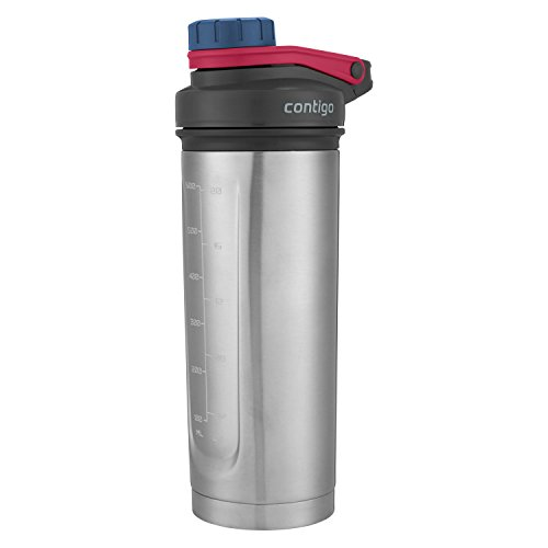Contigo Shake & Go Fit THERMALOCK Stainless Steel Shaker Bottle, 24 oz., Dusted Navy