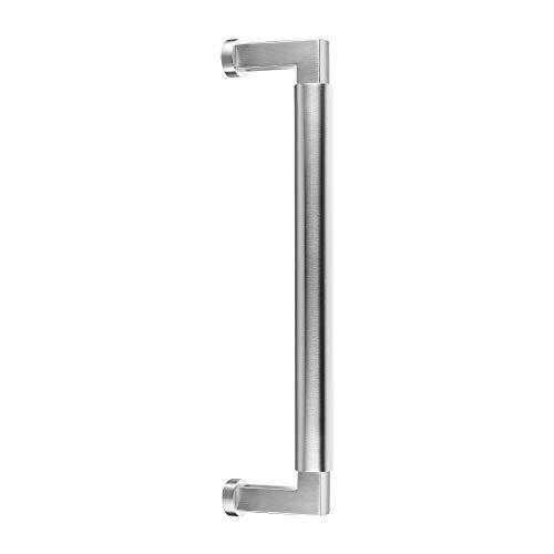 Stoßgriff für Haustüren Bauhaus | V2A Edelstahl matt | zur einseitigen Befestigung | Lochabstand: 350 mm