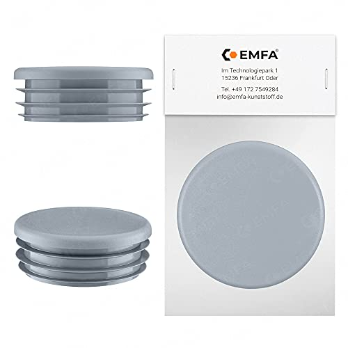 Bouchon pour tube rond 60 mm gris | 1 pcs. | plastique Embout Bouchons d'obturation