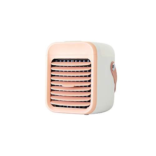 Bermnn Klimagerät Miniklimaanlagen-Wassergekühlte kleine Ventilator Maschine Spray Refrigeration Haushalt Schlafzimmer Kleinen tragbaren Schlafluftkühler (Color : Rosa)