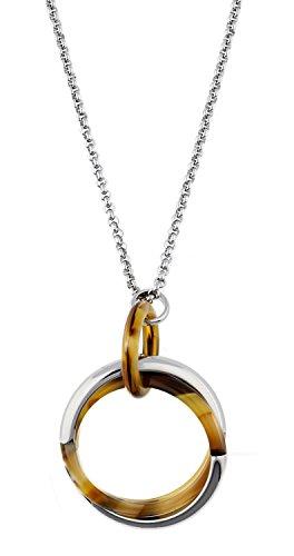 Esprit Jewels Damen-Halskette Edelstahl Tortoise Multilink 90cm ESNL12585A900