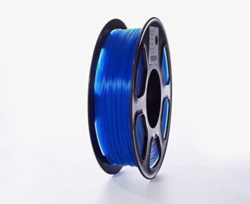 L-SHUNBAO LSB-3D Prints, 1pc 3D Printer Filament PETG 1.75mm 1 kg / 2,2 LB Plastique PETG Filament Consommables PETG Matériel for imprimante 3D Filament (Couleur : Transparent Blue)