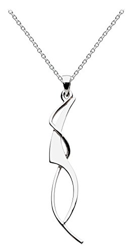 Dew Women's Art Nouveau Sterling Silver Necklace of Length 18 inch