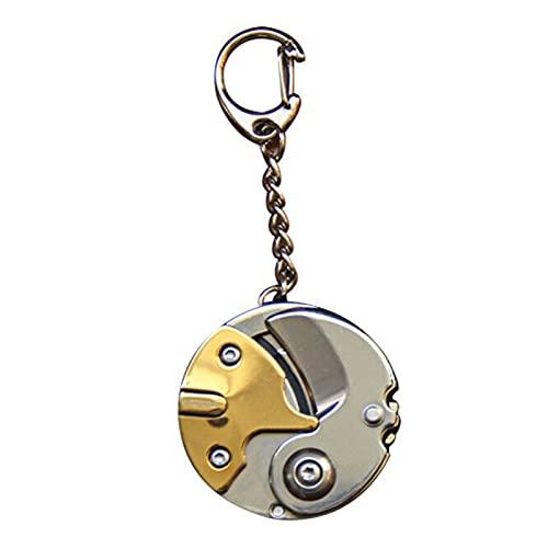 Llavero Mini Herramientas de Bolsillo Mini Destornillador Plegable Cutter Cutter Coin Llavero...