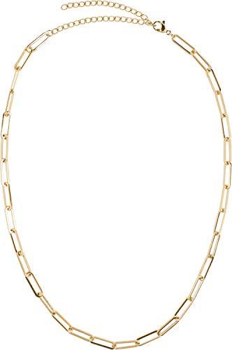 styleBREAKER Damen Edelstahl Kette ohne Anhänger mit grober Gliederkette, Halskette, Halsschmuck, Schmuck 05030064, Farbe:Gold