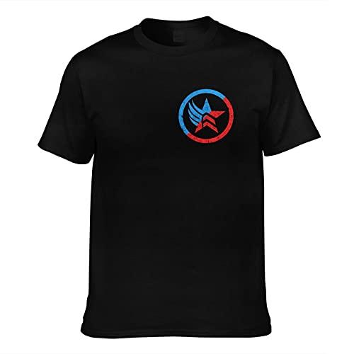 woeinvi Mass Effect 3 Video Game Merchandise Cool T-Shirt Soft Video Game Regalo Hombres Manga Corta Algodón Máscara Regalo para Niño