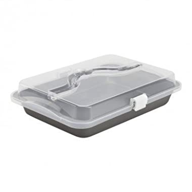 Hamilton Beach Bake n Carry Non-Stick Cake Pan with Lid