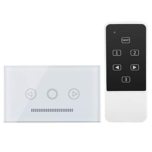 Interruptor táctil blanco, plástico fabricado en vidrio templado de alta calidad, 120 x 72 mm, mando a distancia