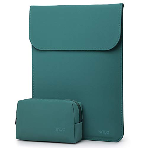 HYZUO 13-13.5 Inch Laptop Sleeve Case Compatible with 13.5 Surface Laptop/13.3 Old MacBook Air/MacBook Pro 2012-2015/12.9 iPad Pro 2015 2017/Hp Spectre x360 13 with Small Bag, Faux Suede Leather