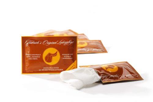 Hubrich\'s Original Lederpflege - pflegendes Reinigungstuch für Glattleder, einzeln verpackt (20)
