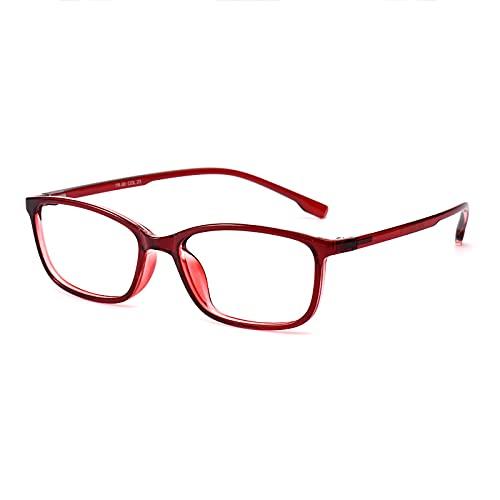 Gafas De Lectura Fotocromáticas para Hombres Y Mujeres Gafas De Sol Ligeras Bisagras Resorte Lentes Lectura Inteligentes Que Cambian Color Interiores Exteriores,Rojo,+3.00