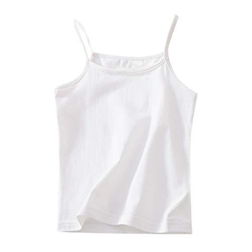 Luckycat Camiseta Interior para niña, Camisetas Interiores para Chicas Hechas de algodón Camiseta Interior de Fibra Natural para Chicas Camiseta de Tirantes para Niñas Disponible en Edad 1-6 años