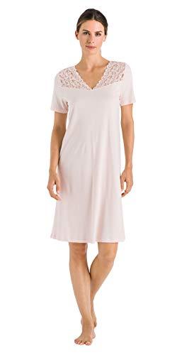 Hanro Damen Moments Nw 1/2 Arm 100 cm Nachthemd, Rosa (Crystal Pink 071334), 44 (Herstellergröße: M)