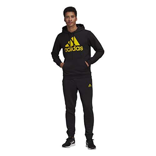adidas GK9652 M BL FT HD TS Tracksuit mens top:black/yellow bottom:black/yellow 7